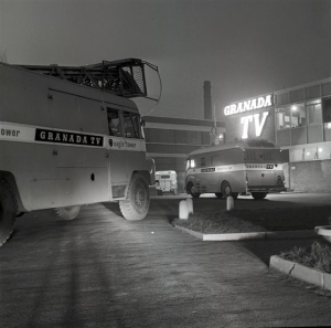GRANADA TELEVISION1960OB UNITS ;EAVING CAR PARK LODGECOPYRIGHT GRANADA