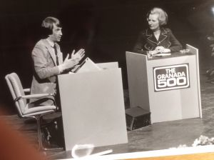 Granada 500 - Gordon Burns & Margaret Thatcher on stage